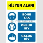 EF1521 - Hijyen Alanı, Bone Tak, Önlük Giy, Galoş Giy