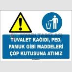 EF1524 - Tuvalet Kağıdı, Ped, Pamuk Gibi Maddeleri Çöp Kutusuna Atınız
