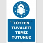 EF1527  - Lütfen Tuvaleti Temiz Tutunuz