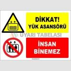 EF1606 - Dikkat! Yük Asansörü, İnsan Binemez