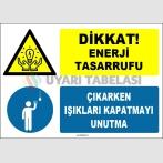 EF1614 - Dikkat! Enerji Tasarrufu, Çıkarken Işıkları Kapatmayı Unutma