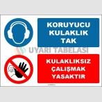 EF1627 - Koruyucu Kulaklık Tak, Kulaklıksız Çalışmak Yasaktır