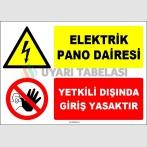 EF1655 - Elektrik Pano Dairesi, Yetkili Dışında Giriş Yasaktır