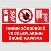 EF1688  - Yangın Söndürücü ve Dolaplarının Önünü Kapatma