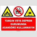 EF1695 - Yangın veya Deprem Durumunda Asansörü Kullanmayın