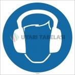 EF1697 - Koruyucu Kulaklık İşareti Levhası/Etiketi