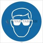 EF1698 - Koruyucu Gözlük İşareti/Levhası/Etiketi