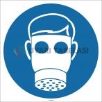 EF1700 - Tam Yüz Maskesi İşareti/Levhası/Etiketi