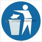 EF1706 - Çöpleri Çöp Kutusuna At İşareti/Levhası/Etiketi