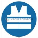 EF1710 - Koruyucu Yelek İşareti/Levhası/Etiketi