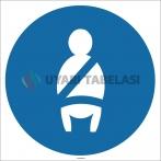 EF1711 - Emniyet Kemeri İşareti/Levhası/Etiketi