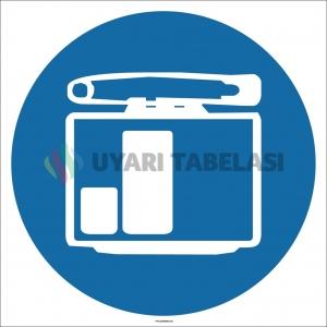 EF1714 - Dozimetre İşareti/Levhası/Etiketi