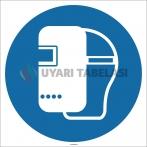 EF1715 - Kaynak Maskesi İşareti/Levhası/Etiketi