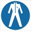 EF1718 - Koruyucu Giysi İşareti/Levhası/Etiketi