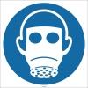 EF1725 - Tam Yüz Maskesi İşareti/Levhası/Etiketi