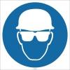 EF1729 - Baret ve Gözlük İşareti/Levhası/Etiketi