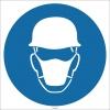 EF1730 - Baret ve Toz Maskesi İşareti/Levhası/Etiketi