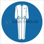 EF1751 - Koruyucu Giysi İşareti/Levhası/Etiketi