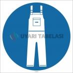 EF1756 - İş Tulumu İşareti/Levhası/Etiketi