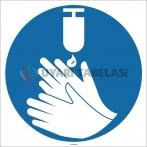 EF1766 - Ellerinizi Dezenfekte Edin İşareti/Levhası/Etiketi