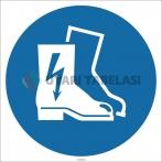 EF1782 - Elektrik Geçirmez Ayakkabı İşareti/Levhası/Etiketi