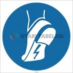 EF1783 - Antistatik Ayakkabı İşareti/Levhası/Etiketi