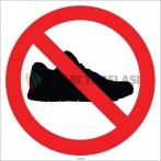 EF1784 - Ayakkabı İle Girilmez İşareti/Levhası/Etiketi
