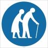 EF1791 - Yaşlı Çift İşareti/Levhası/Etiketi