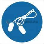 EF1792 - Kulak Tıkacı İşareti Levhası/Etiketi