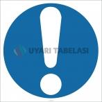 EF1801 - Dikkat İşareti/Levhası/Etiketi