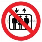 EF1805 - Asansöre Binmek Yasaktır İşareti/Levhası/Etiketi