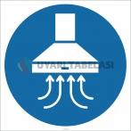 EF1809 - Davlumbaz İşareti/Levhası/Etiketi