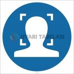 EF1811 - Yüz Tanıma Sistemi İşareti/Levhası/Etiketi