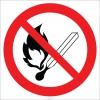 EF1824 - Ateş Yakmak Yasaktır İşareti/Levhası/Etiketi