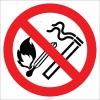 EF1828 - Sigara İçmek ve Ateş Yakmak Yasaktır İşareti/Levhası/Etiketi