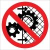 EF1829 - Makina Koruyucularını Çıkarma İşareti/Levhası/Etiketi