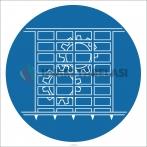 EF1830 - Makina Koruyucularını Takılı Tut İşareti/Levhası/Etiketi