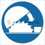 EF1831 - Daire Testere Koruyucusunu Takılı Tut İşareti/Levhası/Etiketi
