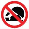 EF1832 - Daire Testere Koruyucusunu İptal Etme İşareti/Levhası/Etiketi