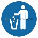 EF1840 - Çöpleri Çöp Kutusuna At İşareti/Levhası/Etiketi