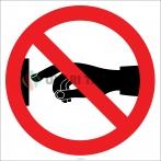 EF1843 - Dokunmak Yasaktır İşareti/Levhası/Etiketi