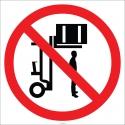 EF1847 - Kaldırılan Yüklerin Altında Durmak Yasaktır İşareti/Levhası/Etiketi