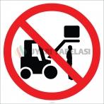 EF1848 - Kaldırılan Yüklerin Altında Durmak Yasaktır İşareti/Levhası/Etiketi