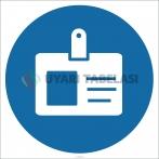 EF1850 - Yaka Kartı İşareti/Levhası/Etiketi