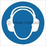 EF1907 - Koruyucu Kulaklık İşareti Levhası/Etiketi
