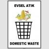 EF1924 - Türkçe İngilizce Evsel Atık, Domestic Waste
