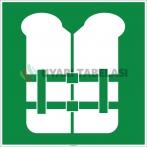 EF2013 - Can Yeleği İşareti Levhası/Etiketi