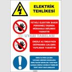 EF2055 -  Elektrik Tehlikesi Talimat Levhası