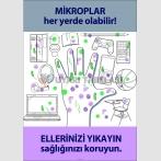EF2080 - Mikroplar Her Yerde Olabilir, Ellerinizi Yıkayın, Sağlığınızı Koruyun