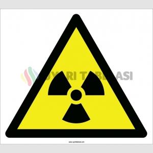 EF2086 - Dikkat Radyoaktif Madde (veya İyonize Radyasyon) İşareti